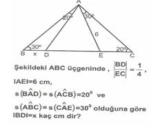 8.Sınıf MatematıkUcgende Eşlık Benzerlık  Testlerı 11