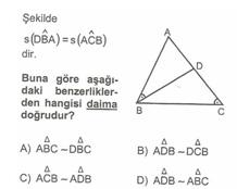 8.Sınıf MatematıkUcgende Eşlık Benzerlık  Testlerı 14