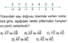9.sinif geometri duzlemde vektorler testleri 5.