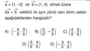 9.sinif geometri duzlemde vektorler testleri 9.