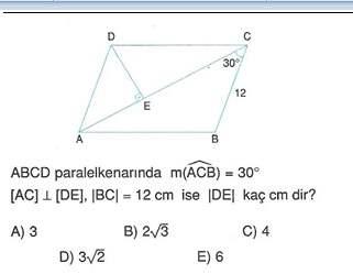 9.sınıf cokgende cevre ve alan testleri 12.