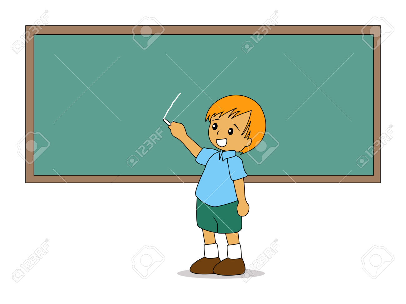 1830406-Illustration-of-a-Kid-writing-on-the-Board-Stock-Vector-board-school