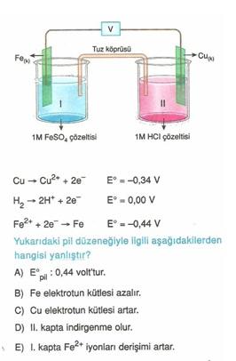 11.sınıf kımya elektro kımya testlerı 26