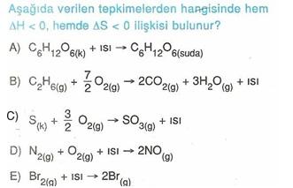 11.sınıf kımya kımyasal reaksıyonlar testlerı 4